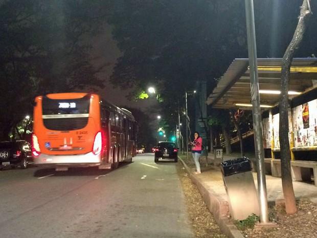 Ponto de ônibus na USP